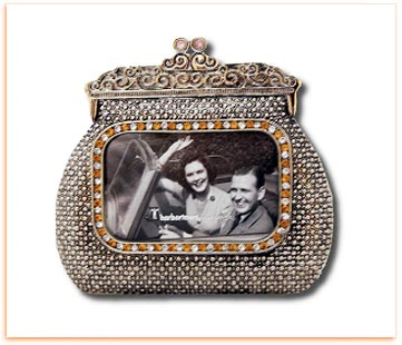 Antiqued Purse Style Photo Frame