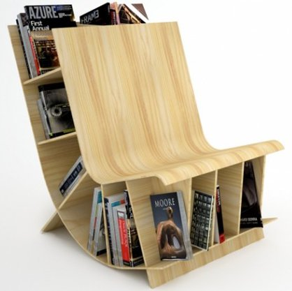 Easy Chair With Book Shelf