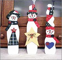 christmas snowmen - Wooden Christmas Crafts
